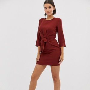 ASOS Tie Wrap Around Mini Dress